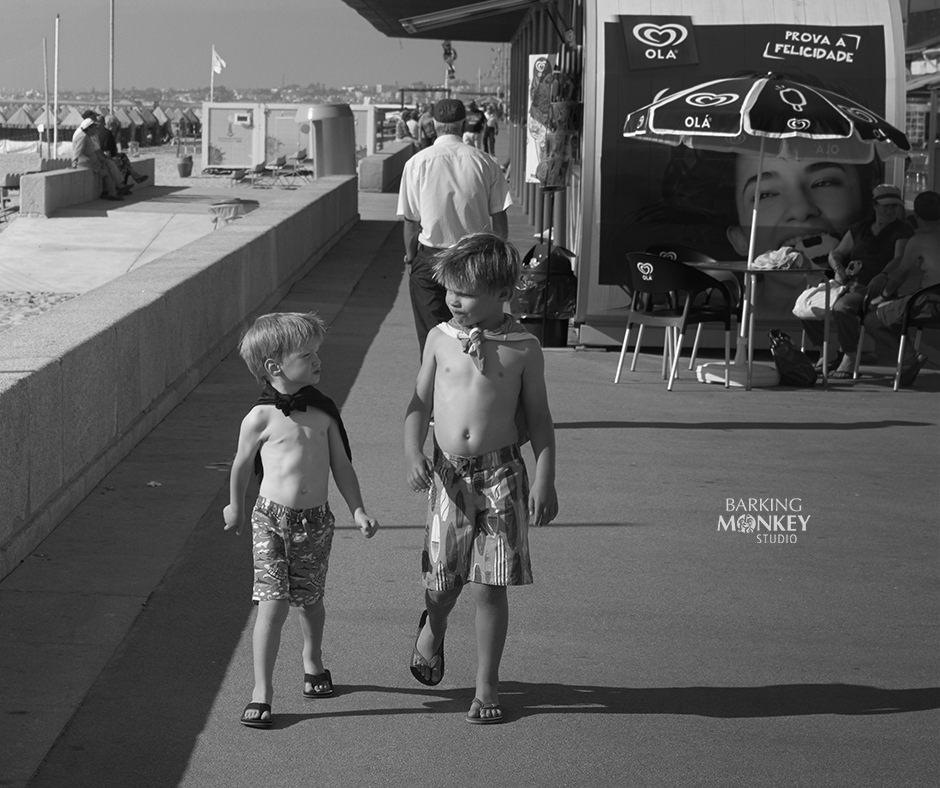 children beach super hero portrait memory